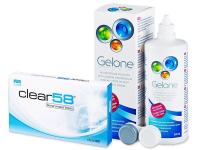 Alensa.com.mt - Contact lenses - Clear 58 (6lenses)