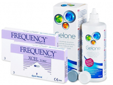 FREQUENCY XCEL TORIC XR (2x3lenses) +GeloneSolution 360ml