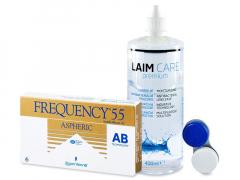 Frequency 55 Aspheric (6lenses) +Laim-CareSolution 400ml