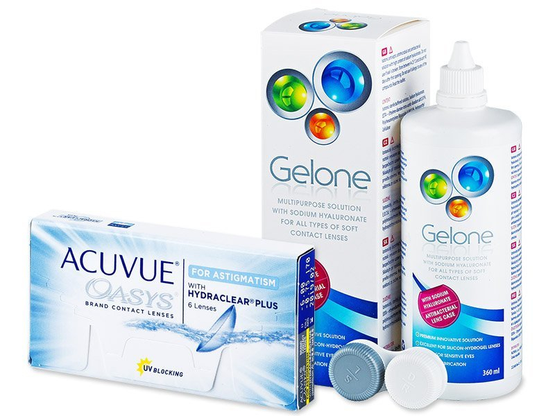 Acuvue Oasys for Astigmatism (6 lenses) + Gelone Solution 360 ml