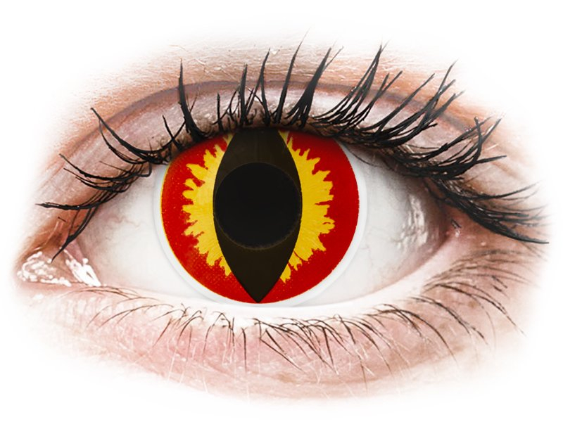 Red and Yellow Dragon Eyes contact lenses - ColourVue Crazy (2 coloured lenses)