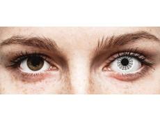 Black and White Spider contact lenses - ColourVue Crazy (2 coloured lenses)