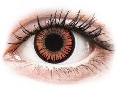 Red Orange Vampire contact lenses - ColourVue Crazy (2 coloured lenses)