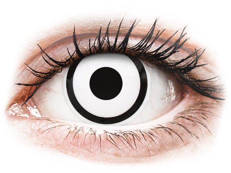 White Zombie contact lenses - ColourVue Crazy (2 coloured lenses)