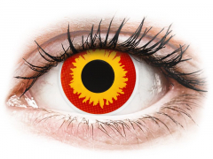 Red and Yellow Wildfire contact lenses - ColourVue Crazy (2 coloured lenses)