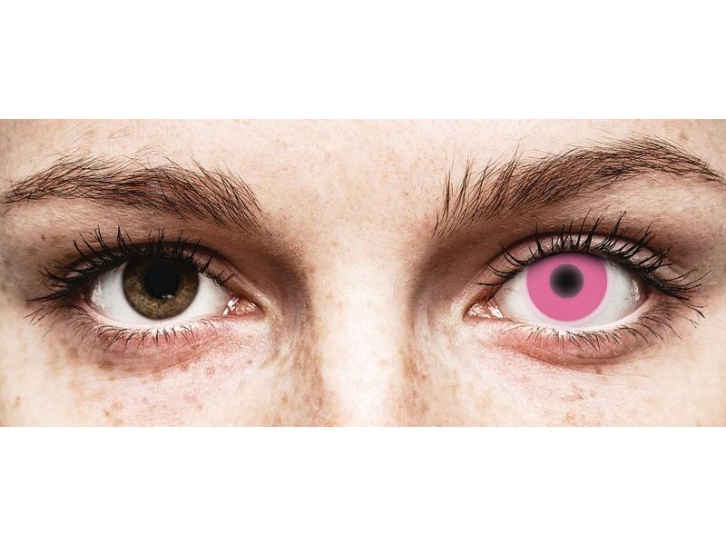 Pink Glow contact lenses - ColourVue Crazy (2 coloured lenses)