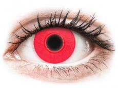 Red Glow contact lenses - ColourVue Crazy (2 coloured lenses)