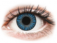 Sapphire Blue contact lenses - power - TopVue Color (10 daily coloured lenses)