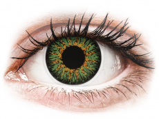 Green Glamour contact lenses - ColourVue (2 coloured lenses)