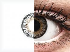 Grey 3 Tones contact lenses - power - ColourVue (2 coloured lenses)