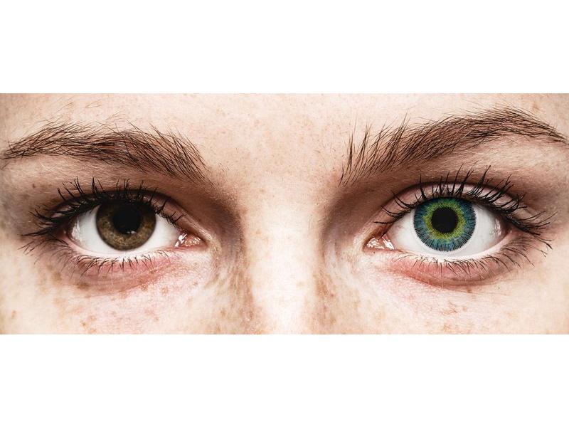 Yellow Blue Fusion contact lenses - ColourVue (2 coloured lenses)