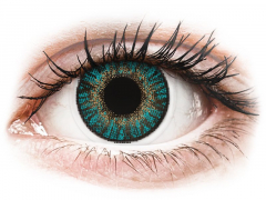 Turquoise contact lenses - FreshLook ColorBlends - Power (2 monthly coloured lenses)