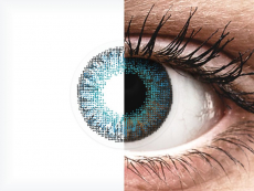 Brilliant Blue contact lenses - natural effect - Air Optix (2 monthly coloured lenses)