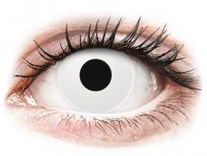 White WhiteOut contact lenses - ColourVue Crazy (2 daily coloured lenses)