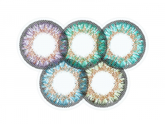 Rainbow 2 One Day TruBlends contact lenses - ColourVue (10 coloured lenses)