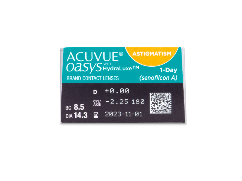 Acuvue Oasys 1-Day with HydraLuxe for Astigmatism (30 lenses)