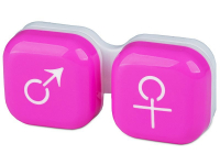 Alensa.com.mt - Contact lenses - Lens Case man & woman - pink