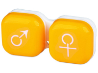 Alensa.com.mt - Contact lenses - Lens Case man & woman - yellow