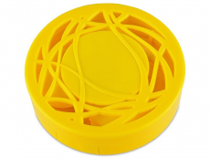 Lens Case with mirror - yellow ornament
