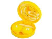 Alensa.com.mt - Contact lenses - Lens Case with mirror - yellow ornament