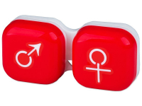 Alensa.com.mt - Contact lenses - Lens Case man & woman - red
