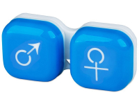 Alensa.com.mt - Contact lenses - Lens Case man & woman - blue