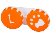 Alensa.com.mt - Contact lenses - Lens Case Paw orange
