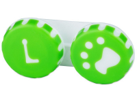 Alensa.com.mt - Contact lenses - Lens Case Paw green