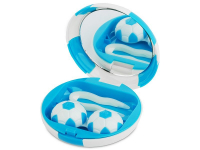 Alensa.com.mt - Contact lenses - Lens Case with mirror Football - blue