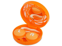 Alensa.com.mt - Contact lenses - Lens Case with mirror- orange ornament