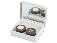 Alensa.com.mt - Contact lenses - Lens Case with mirror Elegant  - silver