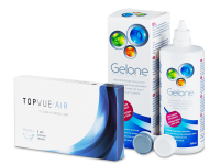 TopVue Air (6 lenses) + Gelone Solution 360 ml