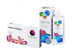 Avaira Vitality (6 lenses) + Gelone Solution 360 ml
