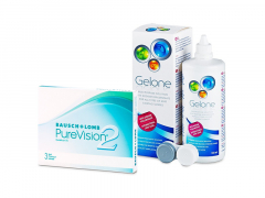 PureVision 2 (3 lenses) + Gelone Solution 360 ml