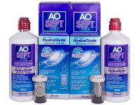 Alensa.com.mt - Contact lenses - AO SEPT PLUS HydraGlyde Solution 2 x 360 ml