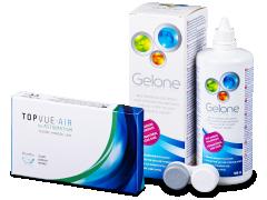TopVue Air for Astigmatism (3lenses) + Gelone 360 ml