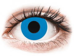 CRAZY LENS - Sky Blue - power (2 daily coloured lenses)