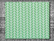 Cleaning cloth for glasses - green and white herringbone