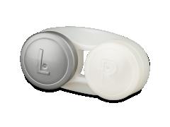 Antibacterial lens case - grey