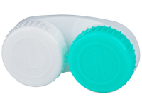 Alensa.com.mt - Contact lenses - Lens Case Green and White with L/R marking