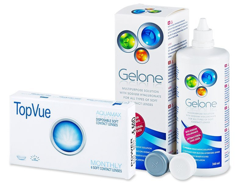 TopVue Monthly (6 lenses) + Gelone Solution 360 ml